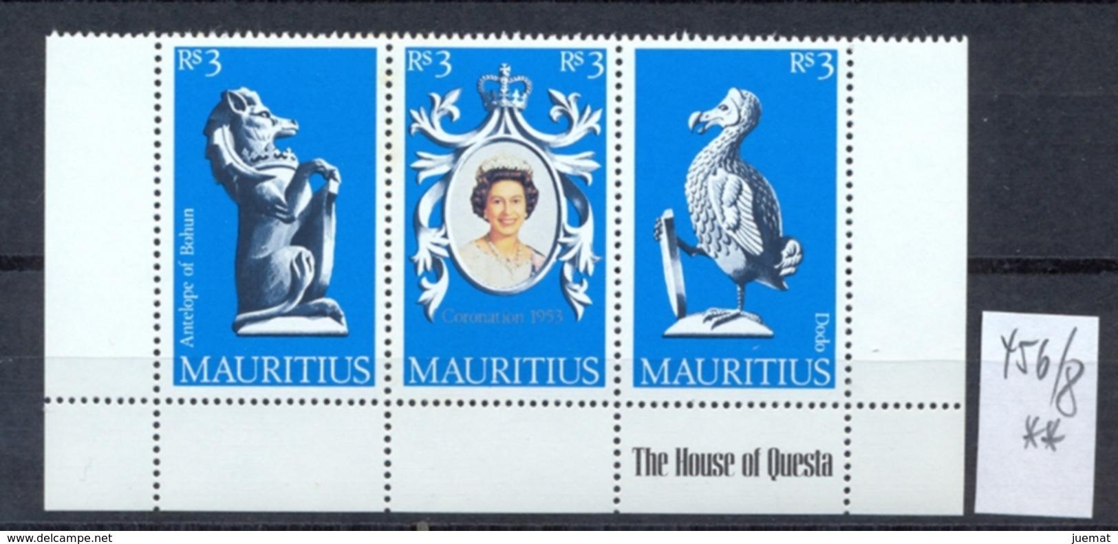 MAURITIUS -  456/8  Krönung 25 J.  Kompl. Postfrisch - Maurice (1968-...)