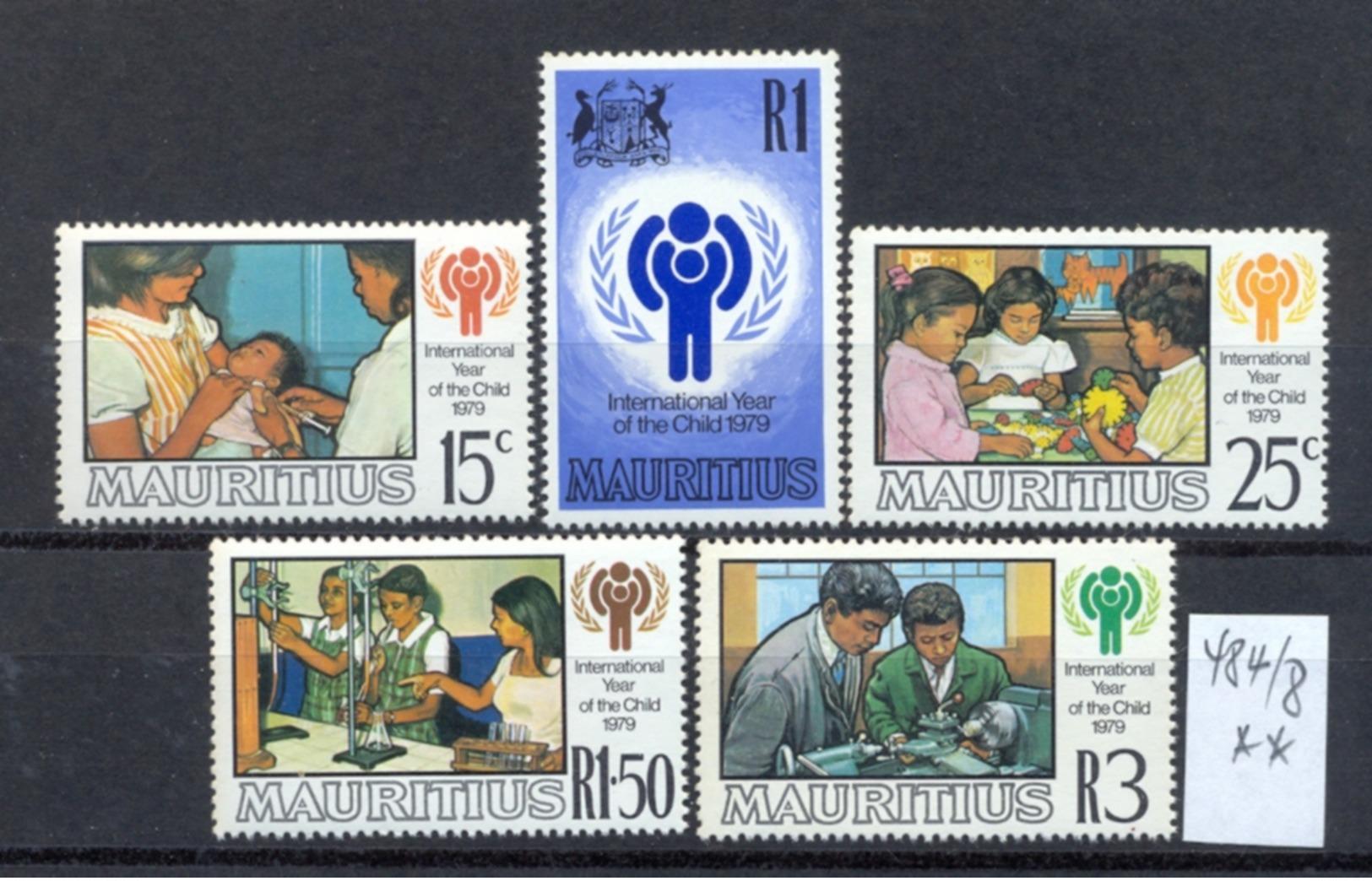 MAURITIUS -  484/88  Int.J.d.K.  Kompl. Postfrisch - Maurice (1968-...)