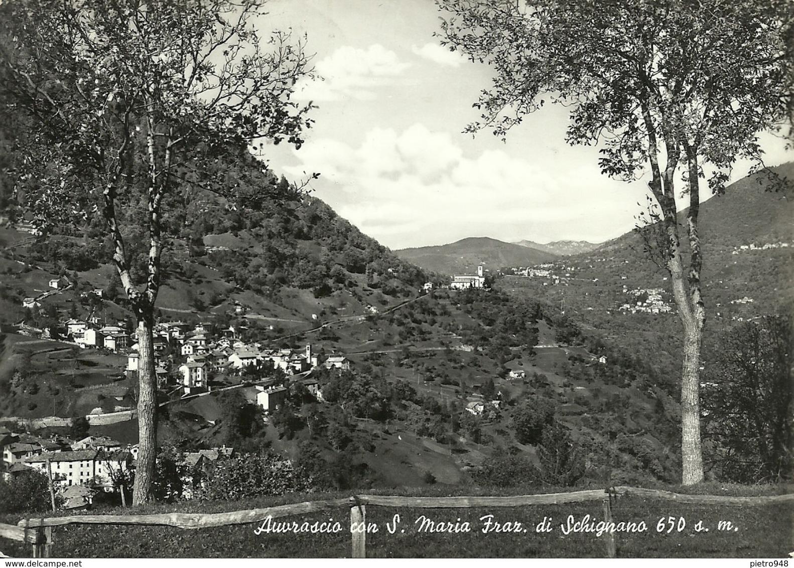 Auvrascio Fraz. Di Schignano (Como) Panorama, General View, Vue Generale, Gesamtansicht - Como