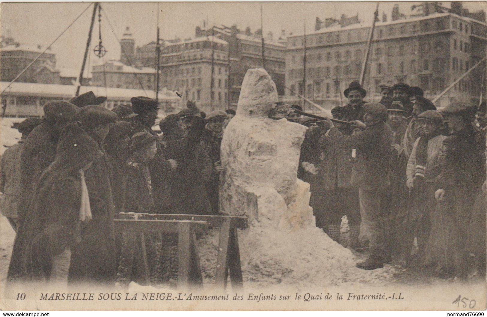 CPA  13  MARSEILLE  SOUS LA NEIGE - Marseilles