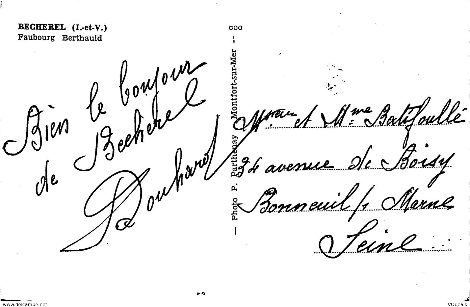 CPSM - France - (35) Ille Et Vilaine - Becherel - Faubourg Berthauld - Bécherel