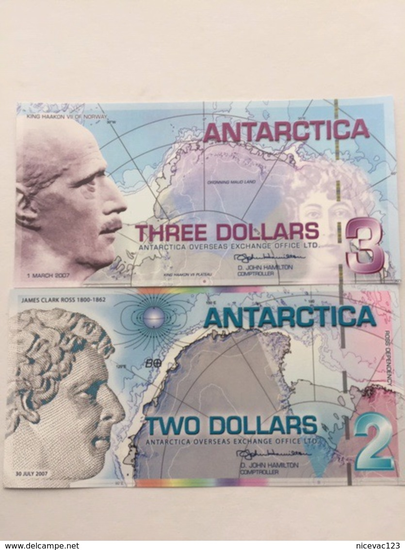 ANTARTICA P5-9  3-2 DOLLARS 2007 UNC - Bankbiljetten