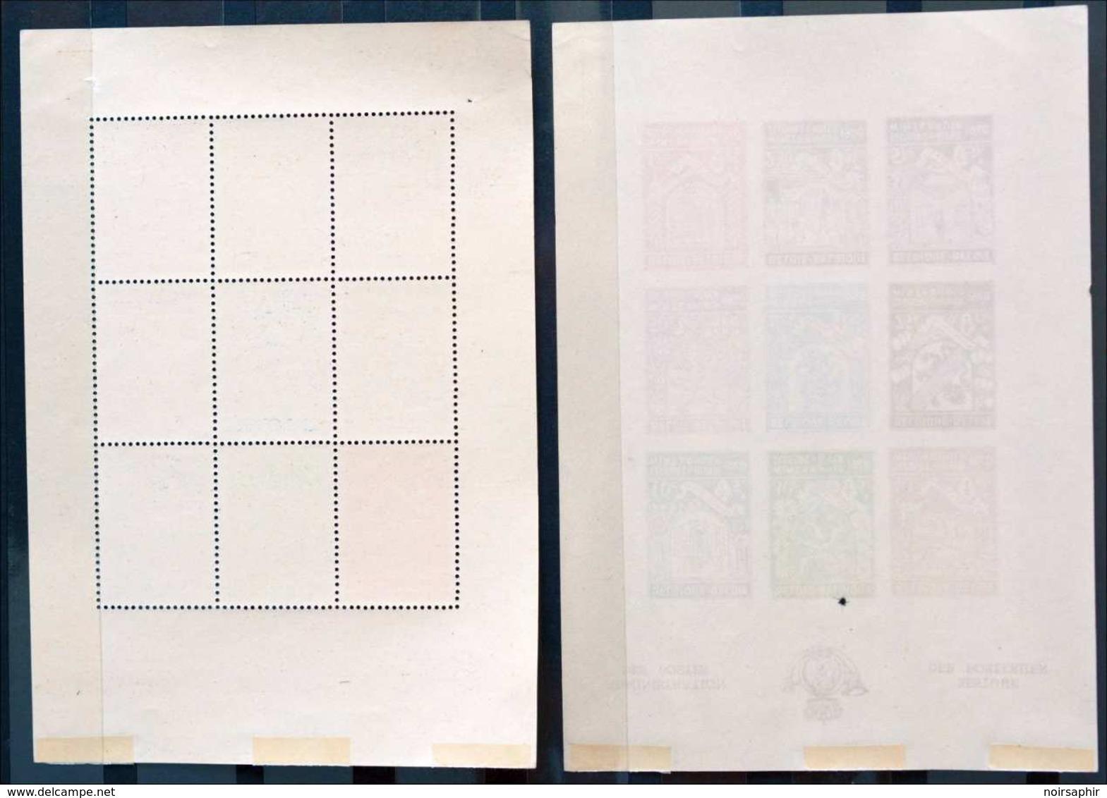 BELGIQUE BLOC FEUILLET X2 SECOURS D'HIVER 1940 DENTELÉ + NON DENTELÉ NEUF * MH WINTERHULP ADMINISTRATION DES POSTES - Blocs 1924-1960
