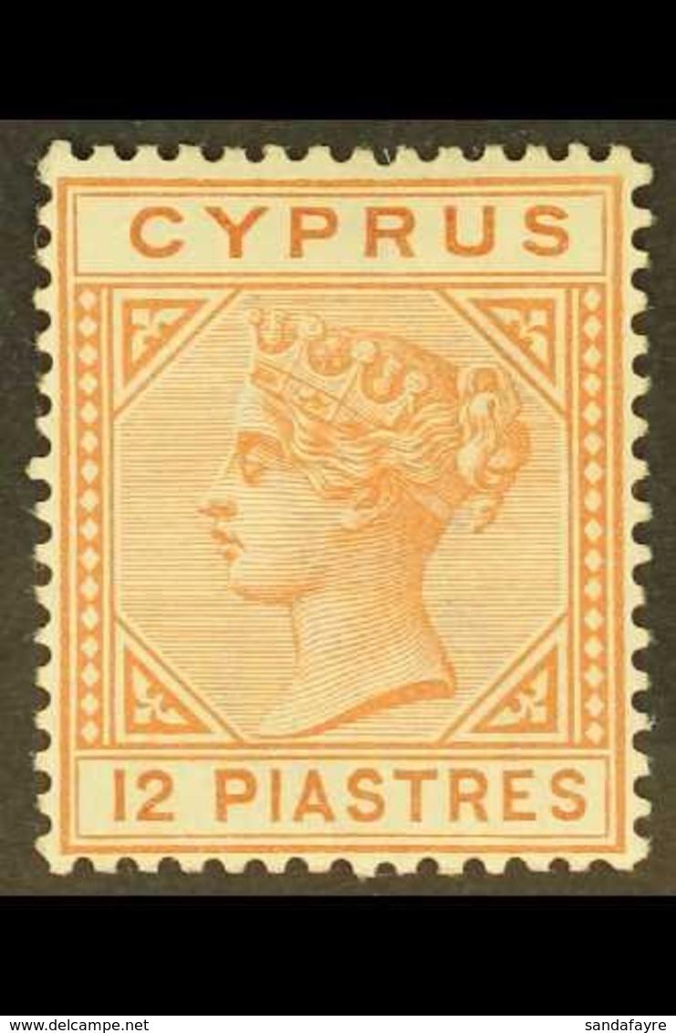 1892-94 12pi Orange-brown, SG 37, Fine Mint. For More Images, Please Visit Http://www.sandafayre.com/itemdetails.aspx?s= - Chipre