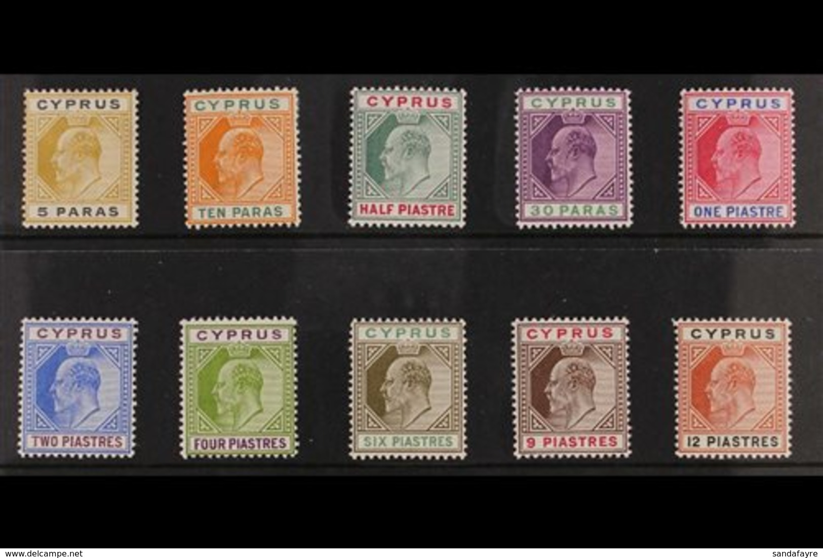 1904-10 KEVII Definitive MCA Wmk Set To 12pi, SG 60/69, Very Fine Mint. (10 Stamps) For More Images, Please Visit Http:/ - Chipre