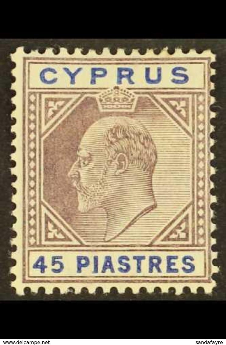 1912-15 45pi Dull Purple & Ultramarine, SG 71, Fine Mint For More Images, Please Visit Http://www.sandafayre.com/itemdet - Chipre