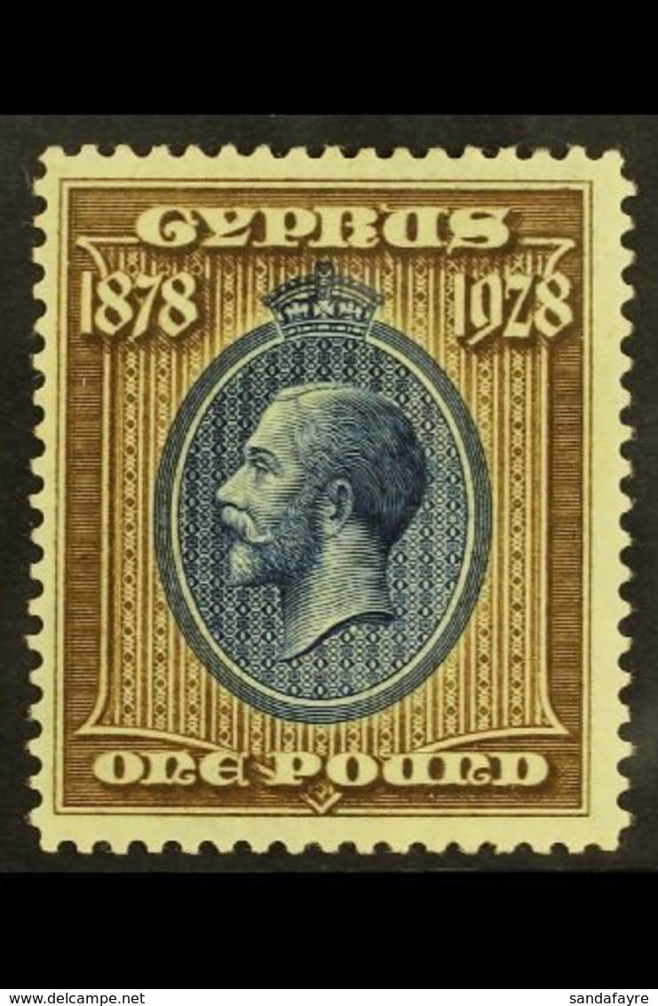 1928 £1 Blue & Bistre Brown, SG 132, Fine Mint For More Images, Please Visit Http://www.sandafayre.com/itemdetails.aspx? - Chipre