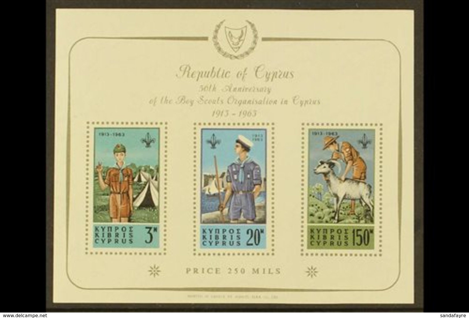 1963 Scout Movement Miniature Sheet, SG MS231a, Fine Never Hinged Mint. For More Images, Please Visit Http://www.sandafa - Chipre