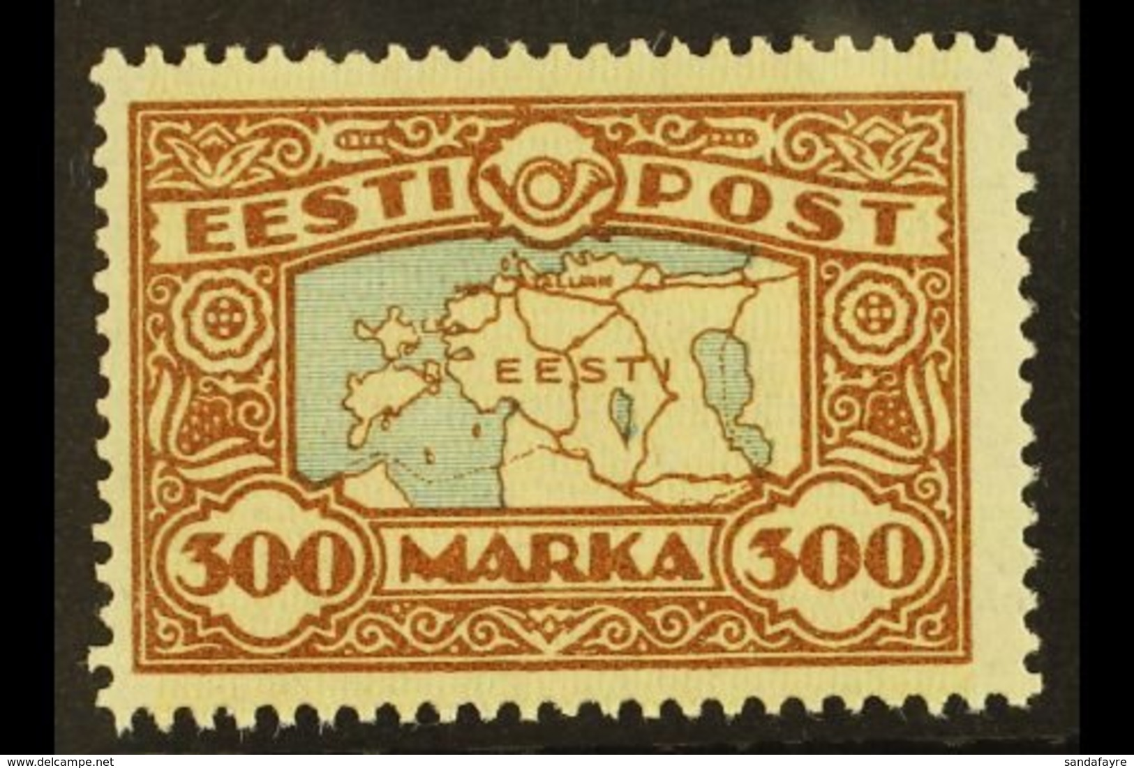 1923-23 300m Blue & Brown Map (SG 43a, Michel 54), Never Hinged Mint, Fresh. For More Images, Please Visit Http://www.sa - Estonia
