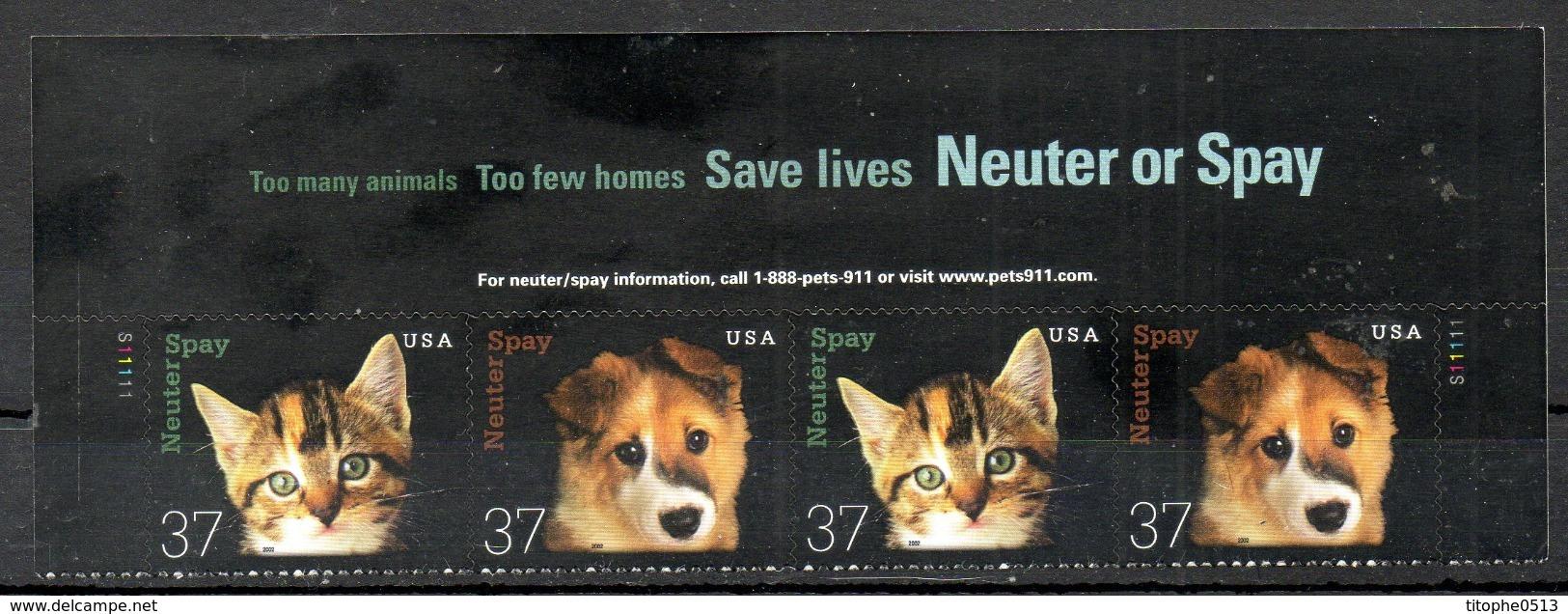 USA. N°3383-4 De 2002. Chat/Chien. - Hunde