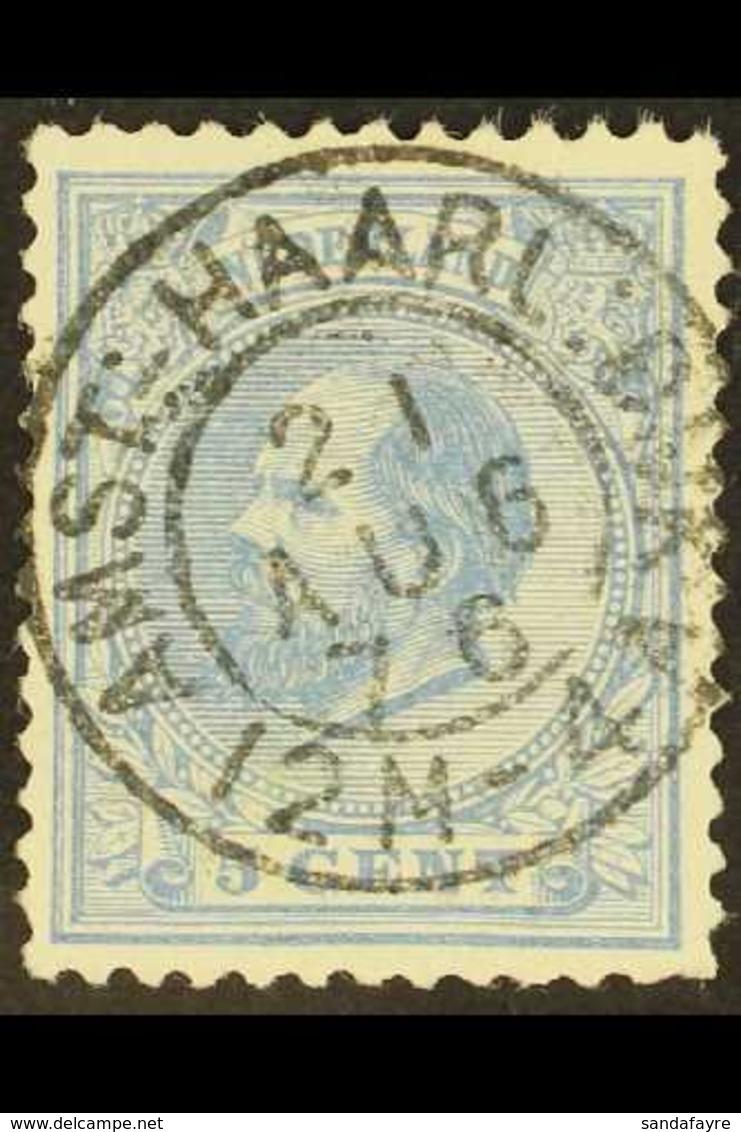 "POSTMARK 1872-91 5c Ultramarine (Mi 19), Superb Used With ""Socked On The Nose"" C.d.s. Postmark Of ""AMST : HAARL : DIJK""  - Sin Clasificación"