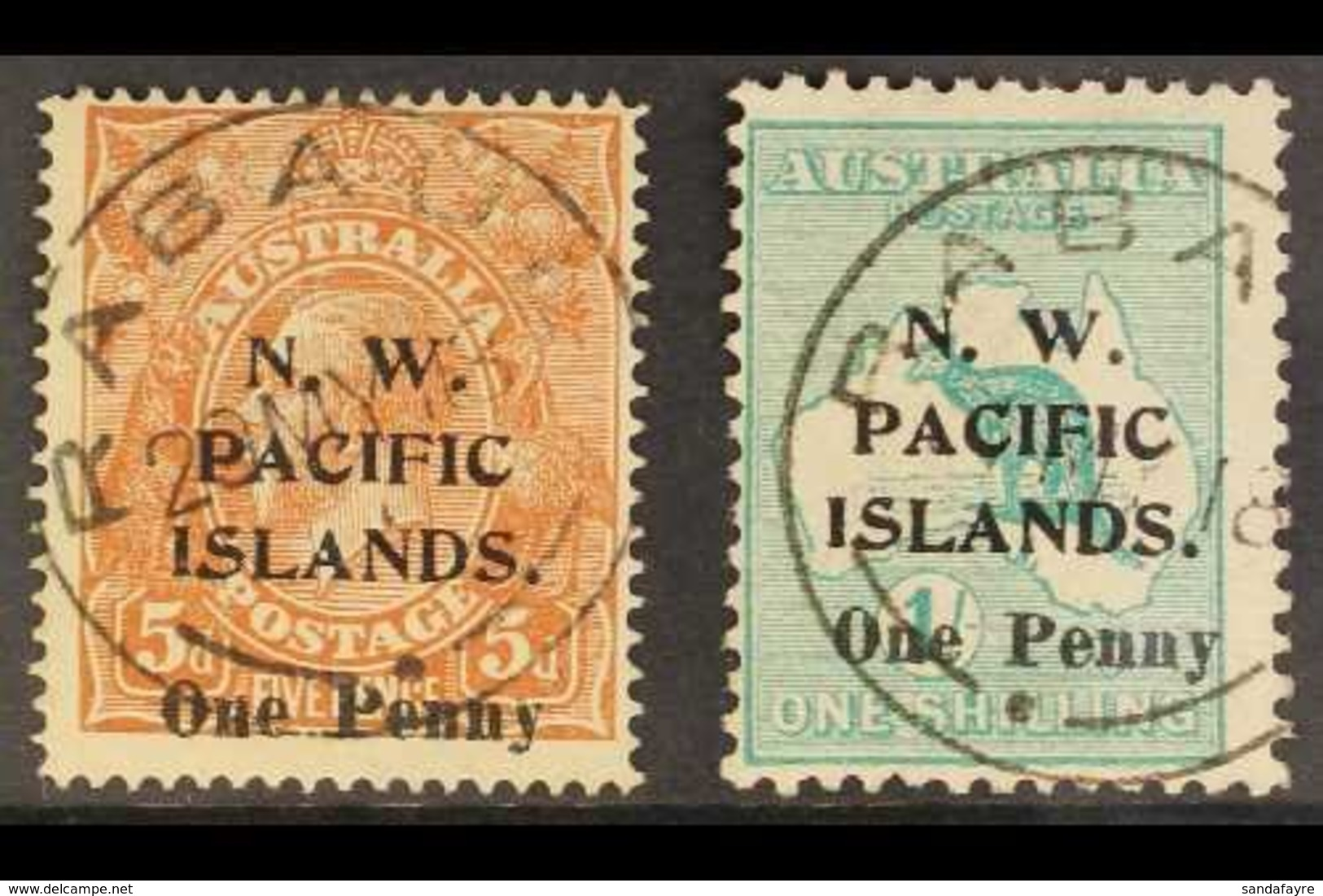 """NWPI 1918 Surcharges Complete Set, SG 100/01, Used With """"Rabaul"""" Cds Cancels, Fresh. For More Images, Please Visit Http: - Papúa Nueva Guinea"""