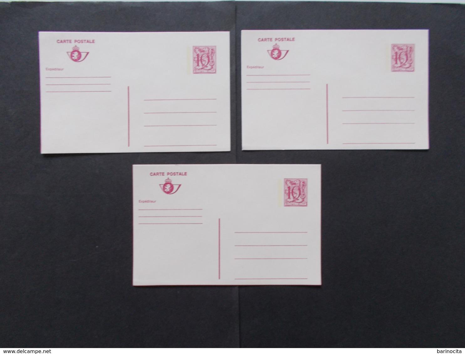 BELGIQUE -  Lot De 3  Carte  Postale      ( Voir Photo )  26 - Stamped Stationery