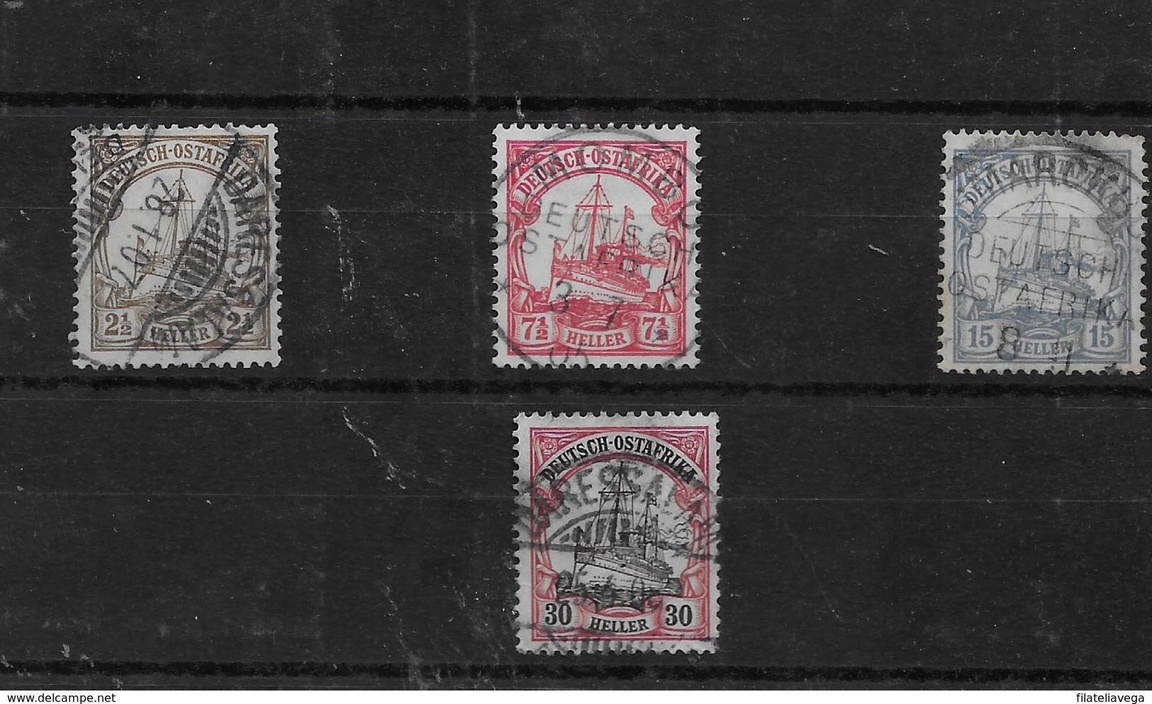 Sellos De Ostafrika Nº Michel 22, 24, 25 Y 27 O Valor Catálogo 18.70€ - Colonia: Africa Oriental