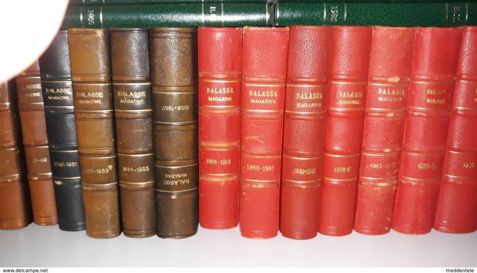 Série Complète Reliée (ex Crustin) Des Balasse Magazine De N°1 En 1936 à 1986. Parfait état. Transportable En Belgique - Philatelie Und Postgeschichte