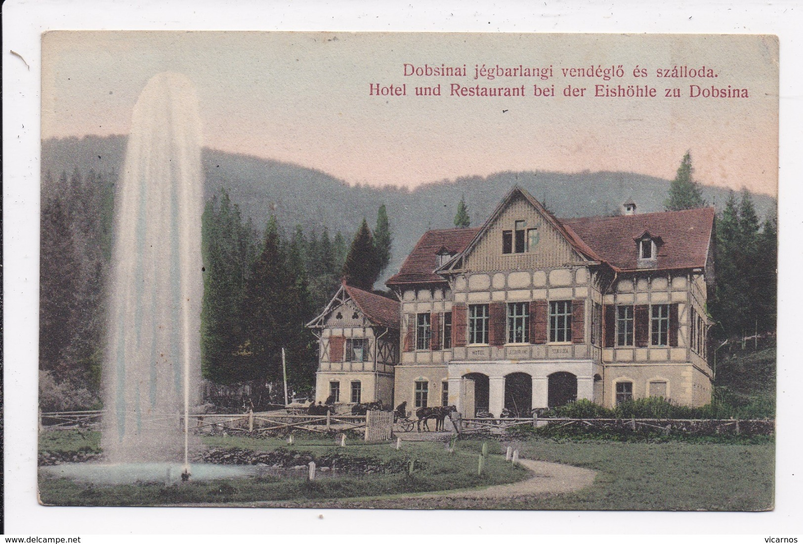 CP SLOVAQUIE Dobsinai Jégbarlangi Vendéglo Es Szalloda - Slovacchia