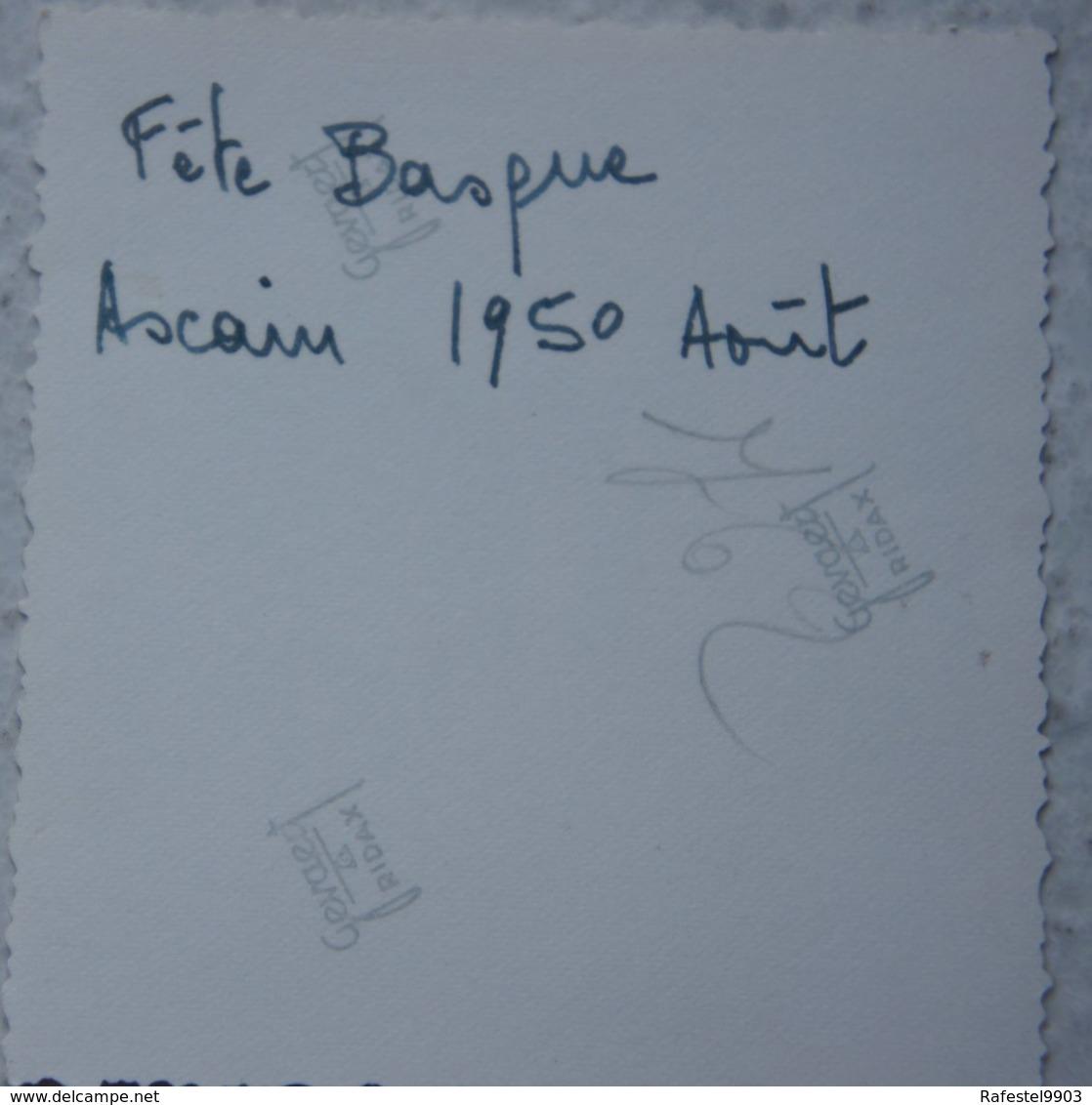 Photo ASCAIN Fête Villageoise 1950 - Lieux