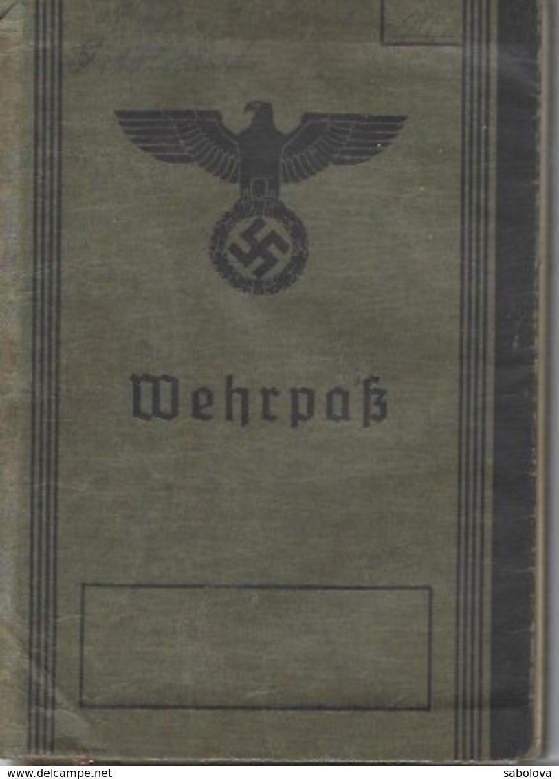 2ème Guerre Mondiale Deutsches Reich Metz Livret Militaire Wehrpass 1942 - Vecchi Documenti