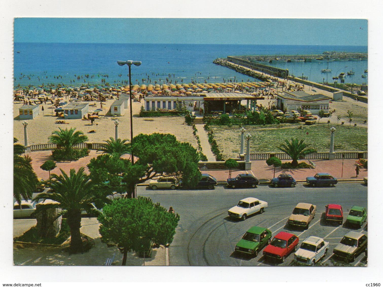 Giulianova (Teramo) - La Spiaggia E Il Porto - Automobili Dell'Epoca - Viaggiata - (FDC17765) - Teramo