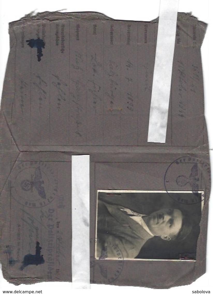 2ème Guerre Mondiale Deutsches Reich Metz Lothringen Personal Ausweis 1941 - Old Paper