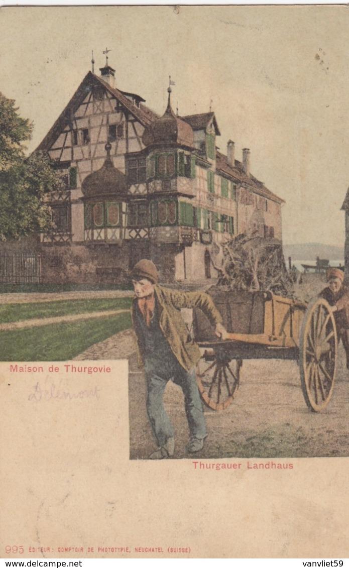 SWITZERLAND-SCHWEIZ-SUISSE-SVIZZERA-THURGAUER LANDHAUS-CARTOLINA VIAGGIATA IL 24-9-1904 - TG Thurgovie