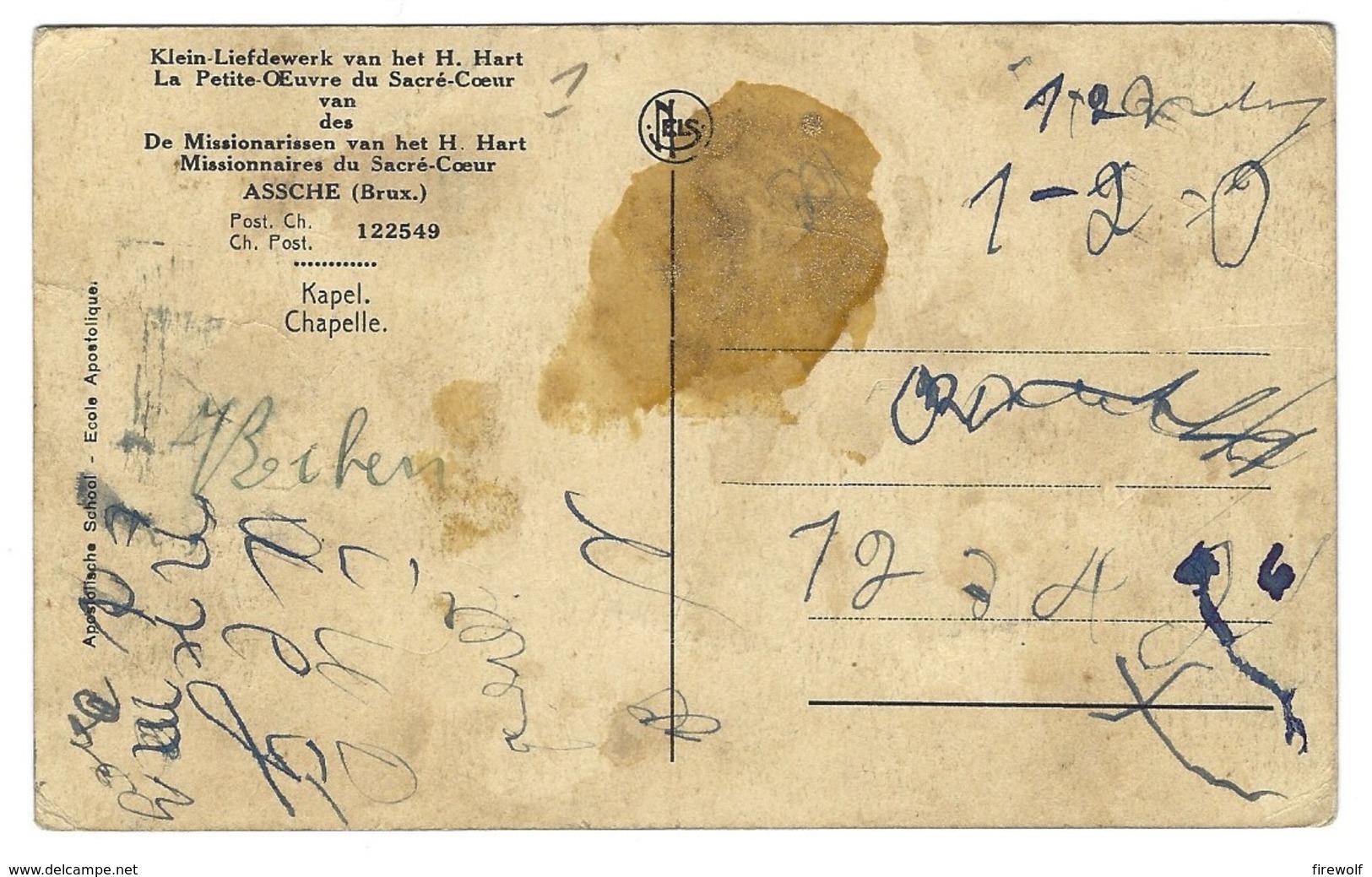 Z06 - Assche - Klein-Liefdewerk Van Het H. Hart Van De Missionarissen Van Het H. Hart - Kapel - Asse