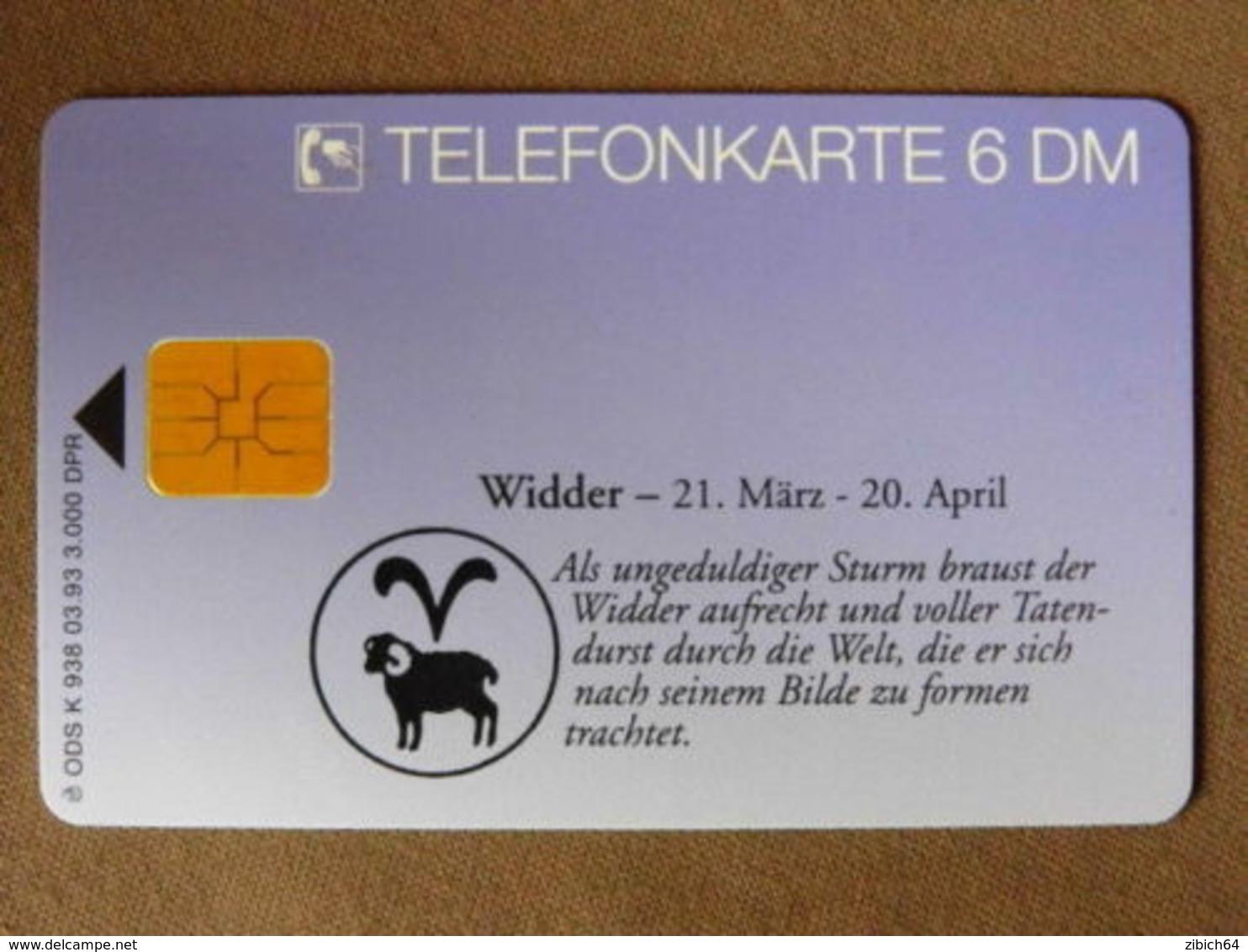 GERMANY  Chip Phonecard  ZODIAC - Sternzeichen