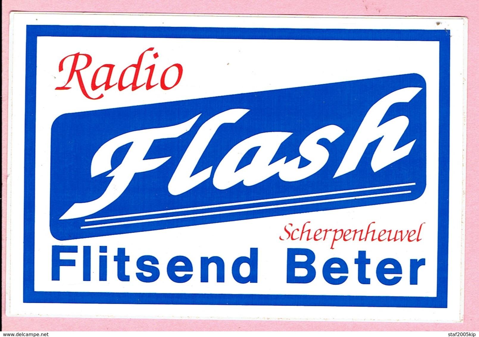 Sticker - RADIO Flash - Scherpenheuvel - Flitsend Beter - Aufkleber