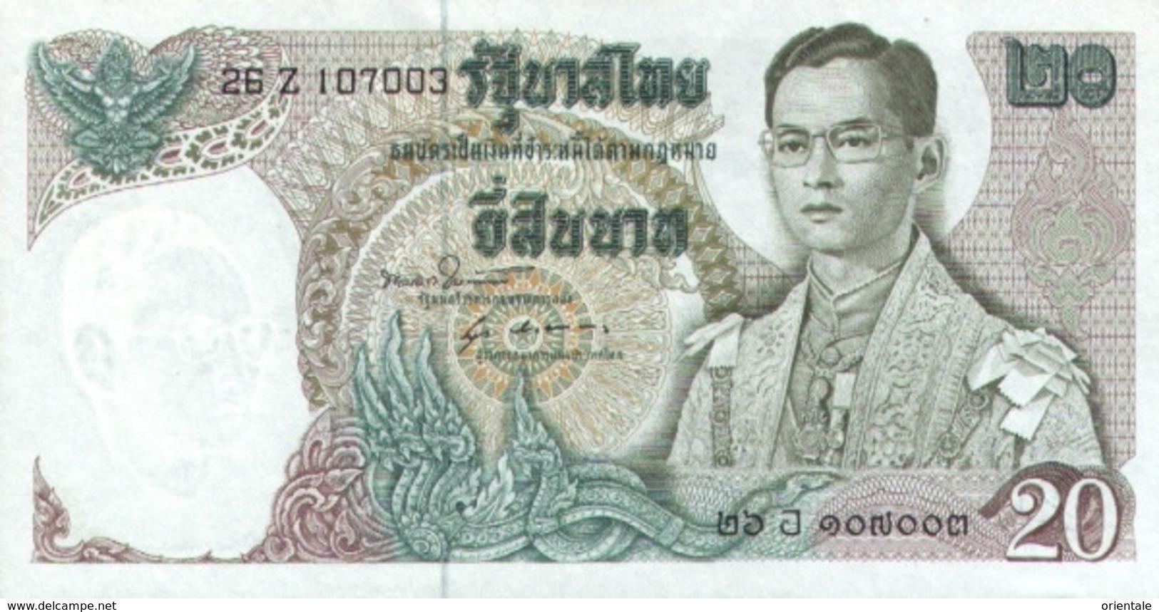 THAILAND  P. 84a 20 B 1971 UNC (s. 51) - Thailand