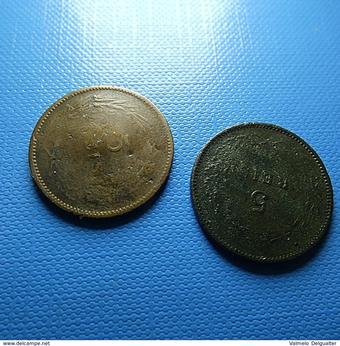 Portugal 2 Coins 5 Reis 1897 - Lots & Kiloware - Coins