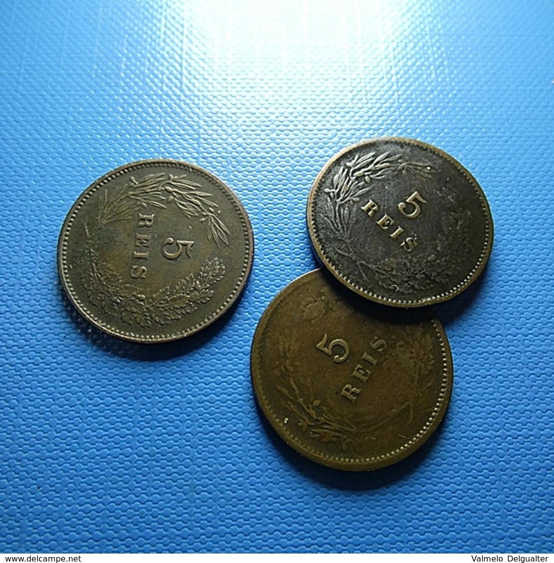 Portugal 3 Coins 5 Reis 1892 - Munten & Bankbiljetten