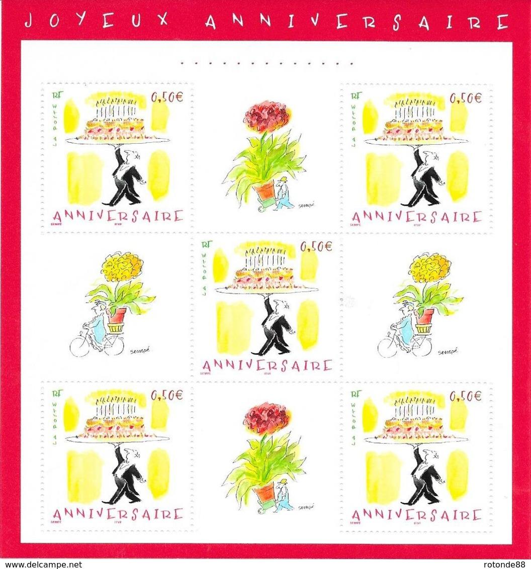 """2004  Bloc Neuf """" Joyeux Anniversaire"""" - Unclassified"""