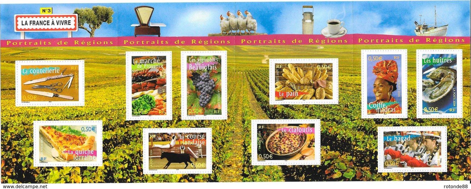 """2004  Bloc Neuf  Non Plié """" La France A Vivre N°3"""" - Sheetlets"""