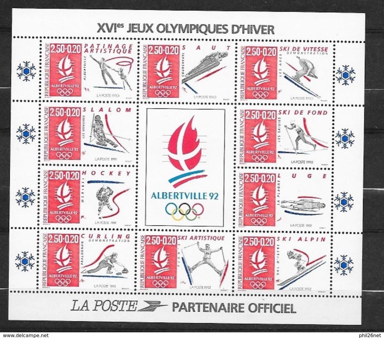 France Bloc N° 14c  JO   Albertville  Neuf **   TB   MNH VF ..................soldé - Mint/Hinged
