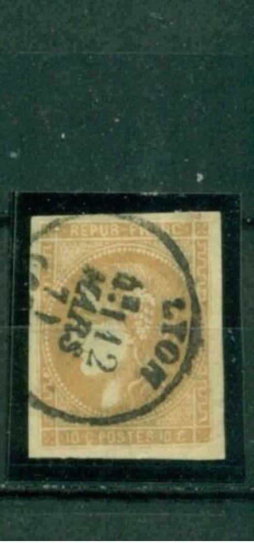 Frankreich, Cereskopf Nr. 40 Gestempelt - 1870 Ausgabe Bordeaux