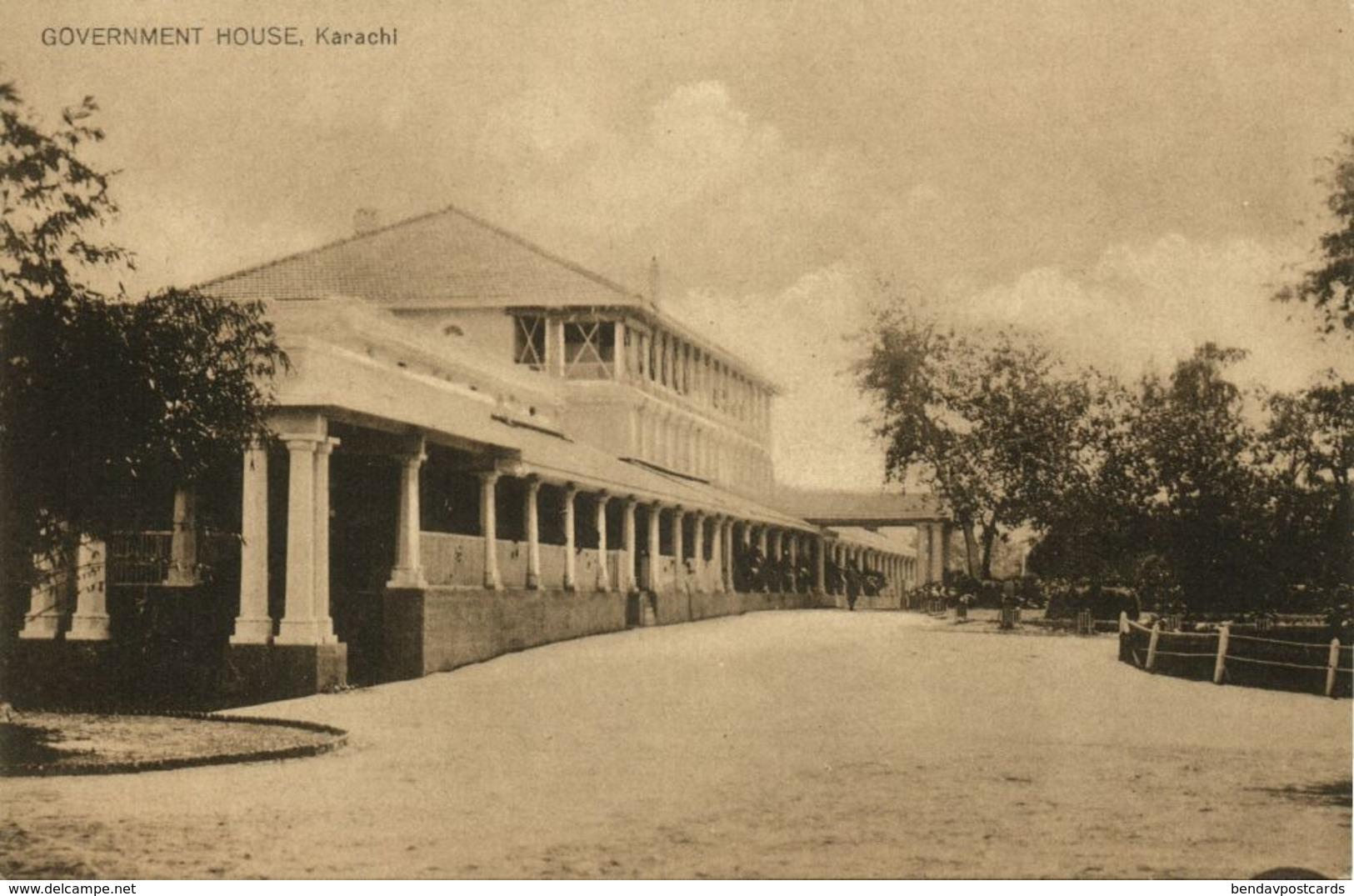 Pakistan, KARACHI, Government House (1930s) Postcard - Pakistan