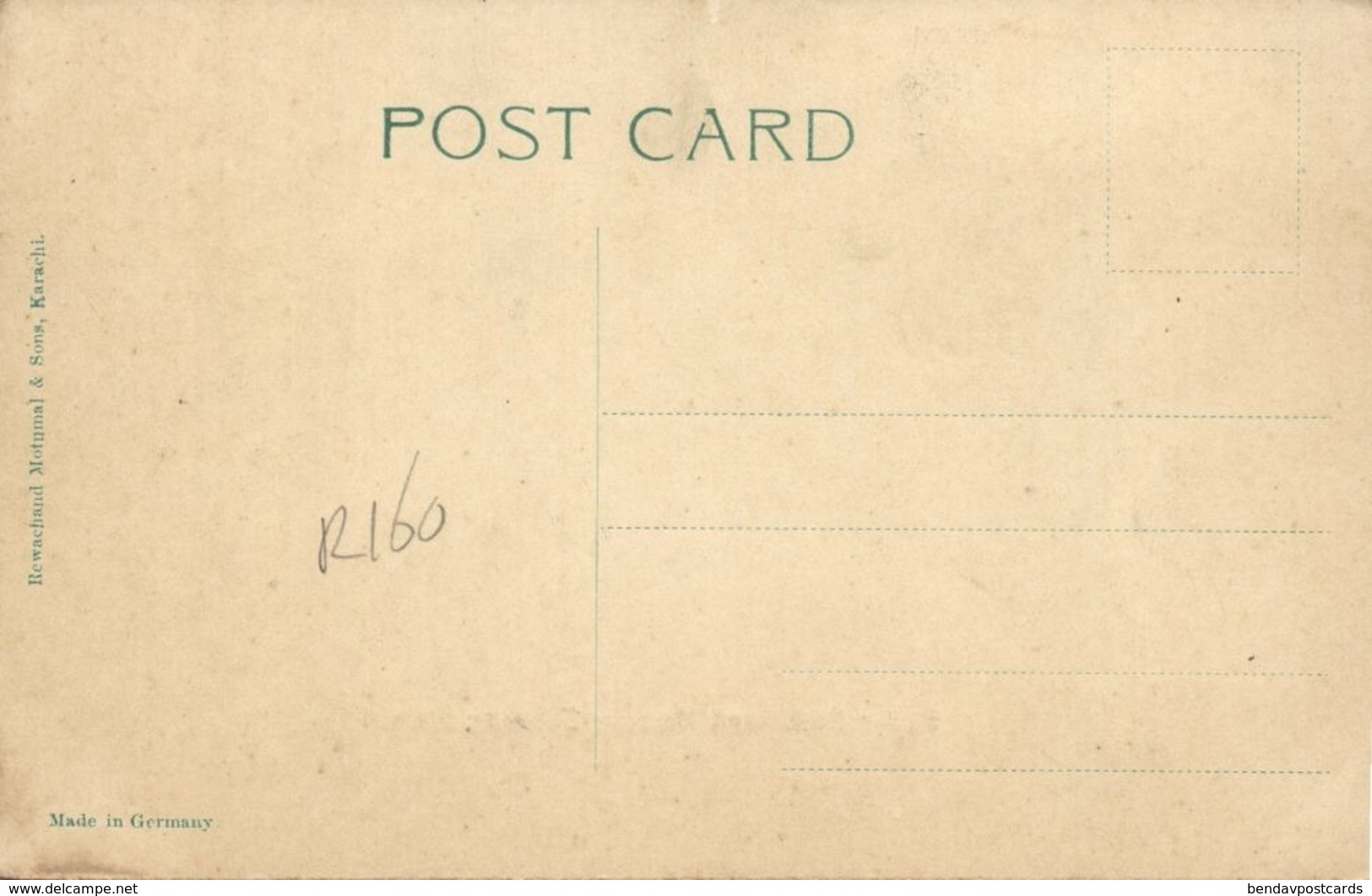 Pakistan, KARACHI, Oyster Rocks, Harbour Entrance (1910s) R. Motumal Postcard - Pakistan
