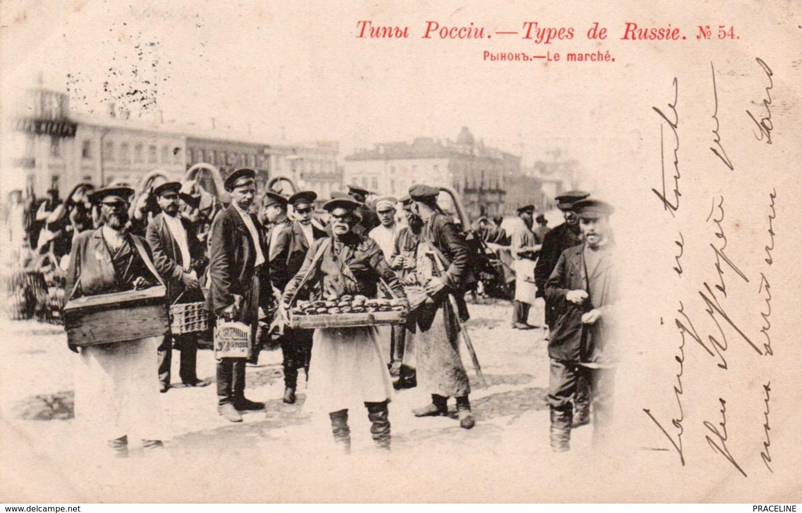 TYPES DE RUSSIE-1901--MARCHÉ-N°54 - Russie