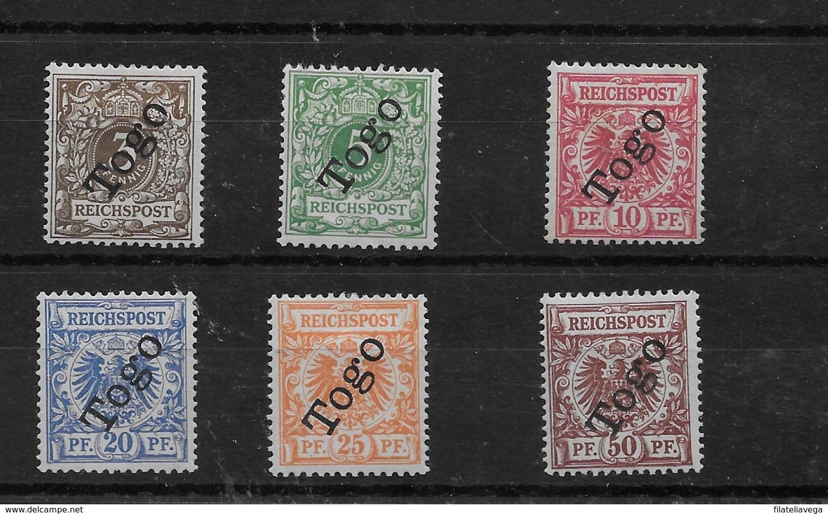 Serie De Togo Nº Michel 1/6 * Valor Catálogo 117.00€ - Colonia: Togo