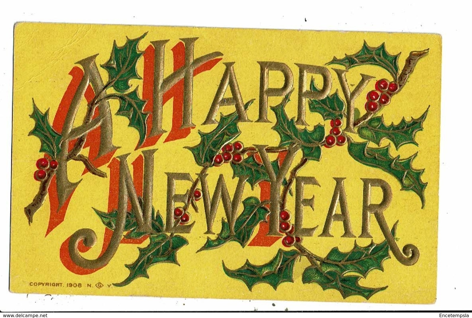 CPA-Carte Postale En Relief  Vierge -Angleterre - A  Happy New Year -VM8010 - Nouvel An