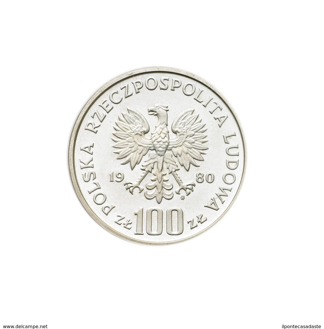 ) POLONIA  | Repubblica.100 Zlotych 1980 PROVA/ Gallo Cedrone. Pr. 399. AG. FDC. - Poland