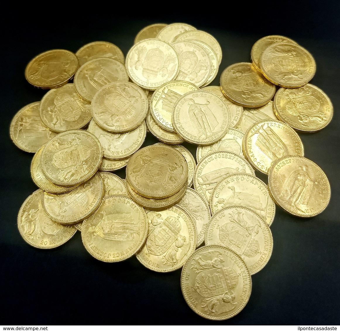 ) UNGHERIA  | Lotto Formato Da 50 Monete In Oro. - Ungheria