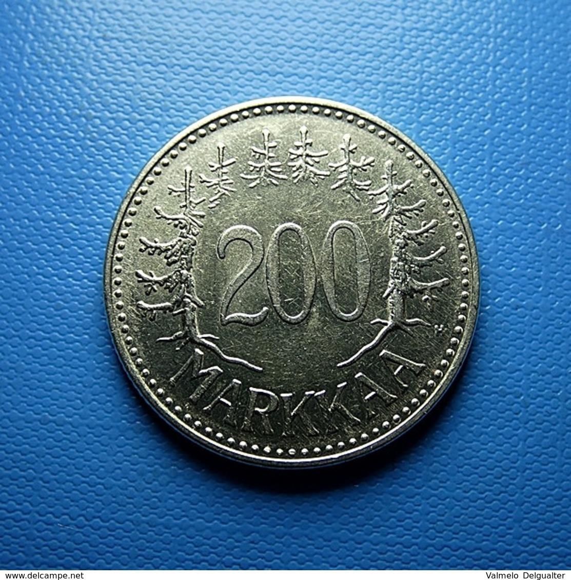 Finland 200 Markkaa 1957 Silver - Finland