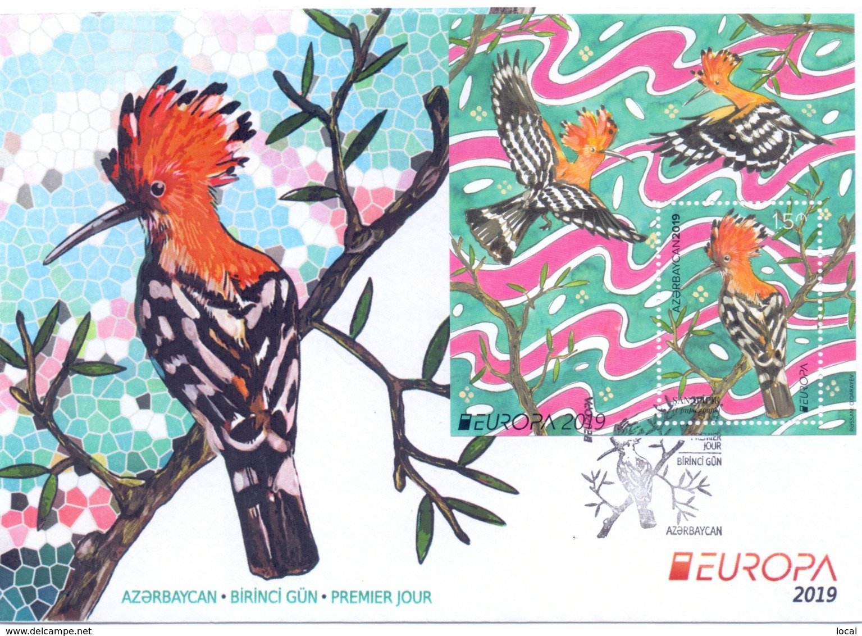 FDC CEPT Azerbaijan EUROPA 2019. NATIONAL BIRDS. First Day Cover 2 Types - 2019