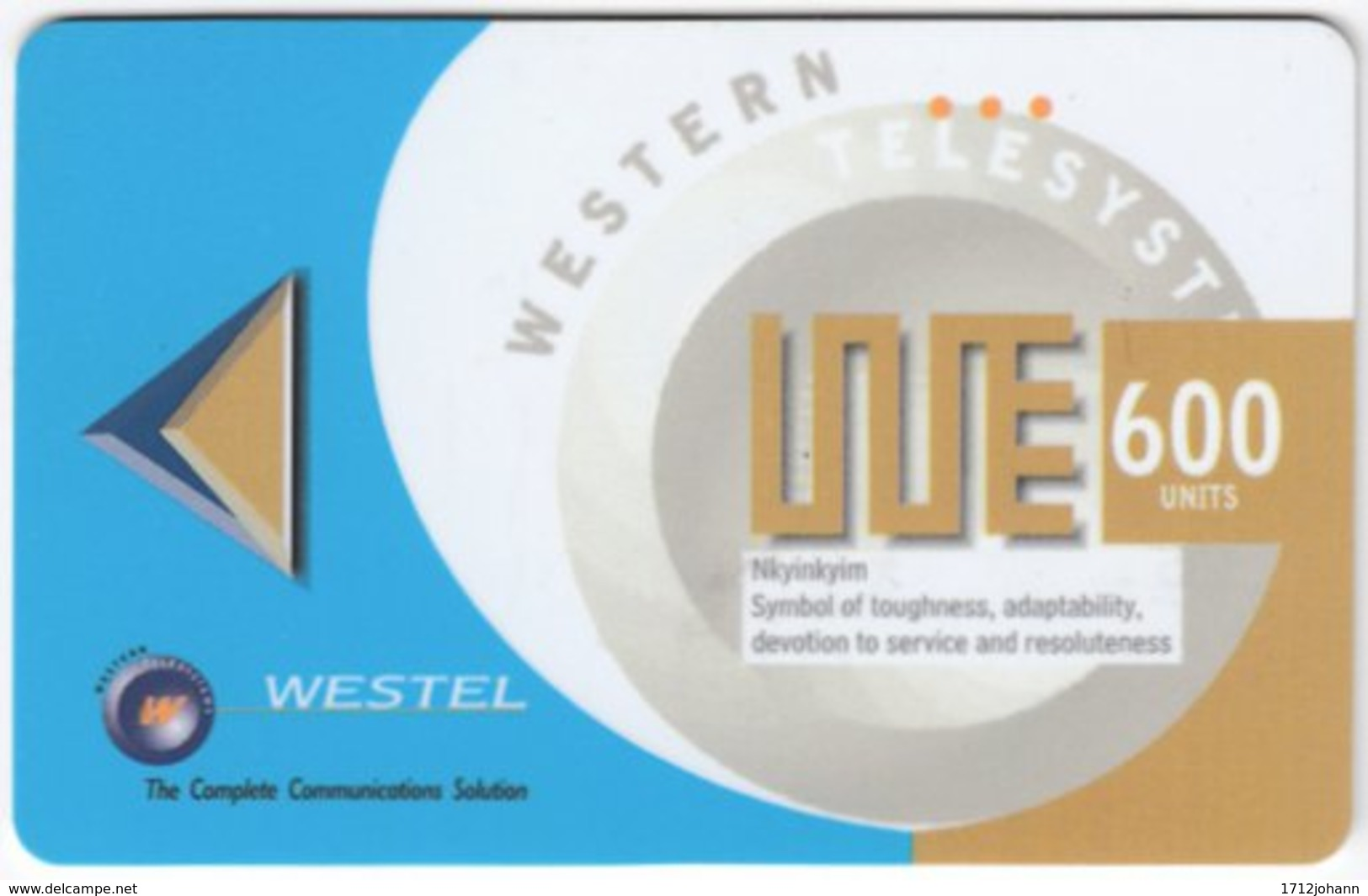 GHANA A-113 Prepaid Westel - Used - Ghana