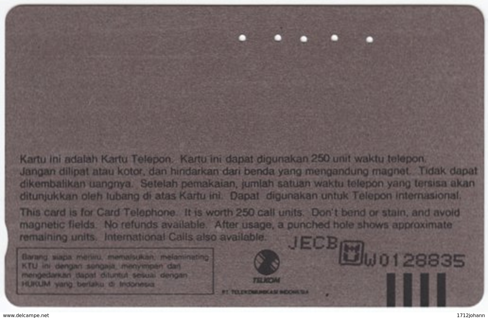 INDONESIA A-400 Magnetic Telekom - Animal, Bird - Used - Indonesien