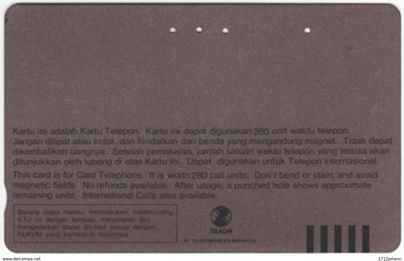 INDONESIA A-406 Magnetic Telekom - Animal, Sea Life, Fish - Used - Indonesien