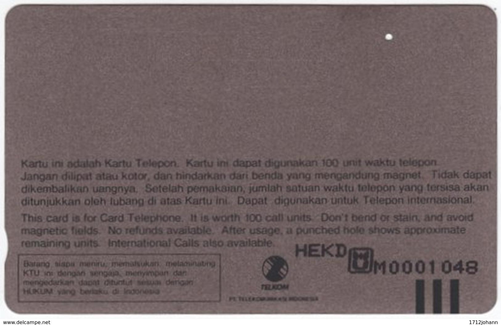 INDONESIA A-412 Magnetic Telekom - Plant, Fruit - Used - Indonesien