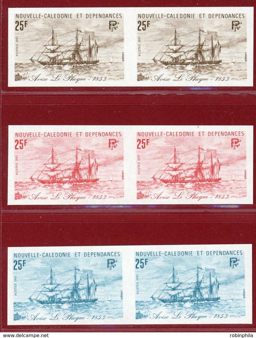 New Caledonia 1981 #467, Color Proof X6, Aviso Le Phoque, Ship - Unused Stamps