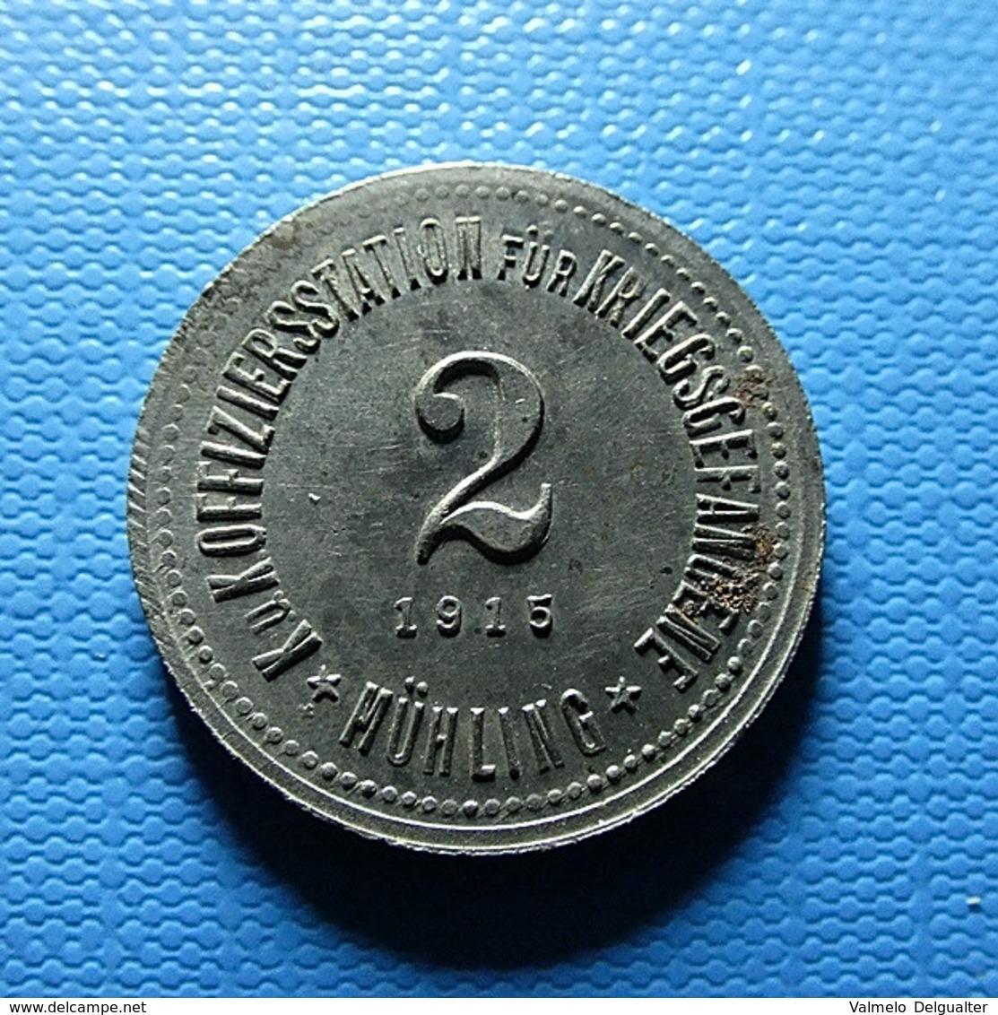 Token To Identify K. U. Koffiziersstation Für Kriegsgefangene Mühling 1915 - Zonder Classificatie